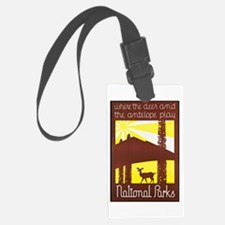 National Parks Travel Poster 3 Luggage Tag