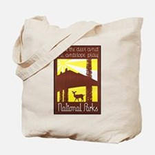 National Parks Travel Poster 3 Tote Bag