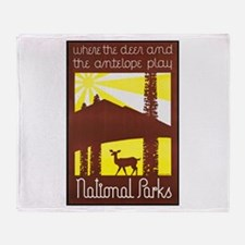 National Parks Travel Poster 3 Throw Blanket