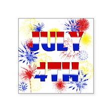 """Celebrate July 4th Square Sticker 3"""" x 3"""""""