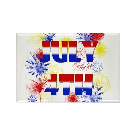 Celebrate July 4th Rectangle Magnet