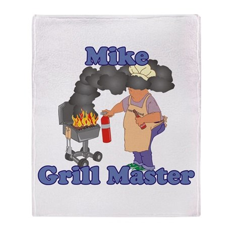 Grill Master Mike Throw Blanket