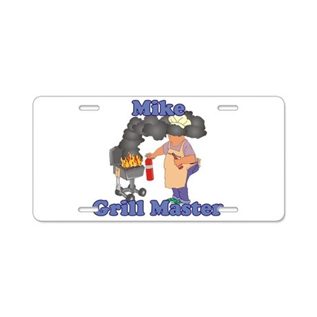 Grill Master Mike Aluminum License Plate
