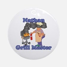 Grill Master Nathan Ornament (Round)