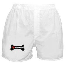 I Love My Saint Bernard - Dog Bone Boxer Shorts