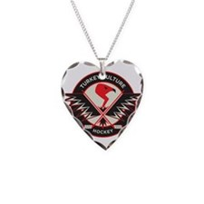 Cool Hockey Necklace Heart Charm