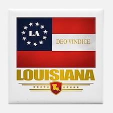 Louisiana Deo Vindice Tile Coaster