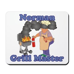 Grill Master Norman Mousepad