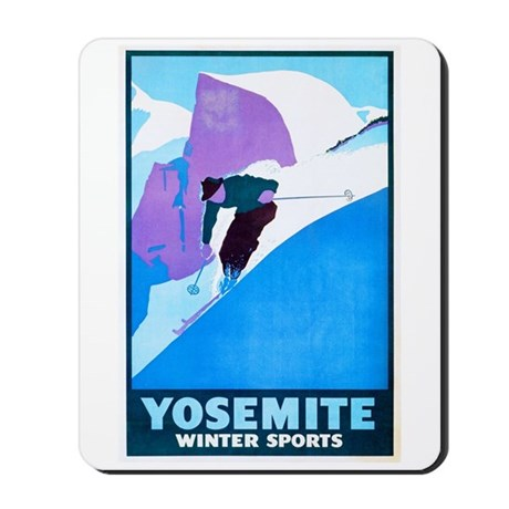 Yosemite Travel Poster 1 Mousepad