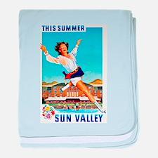 Sun Valley Travel Poster 1 baby blanket
