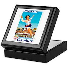 Sun Valley Travel Poster 1 Keepsake Box