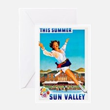 Sun Valley Travel Poster 1 Greeting Card