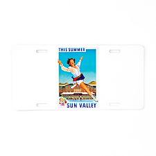Sun Valley Travel Poster 1 Aluminum License Plate