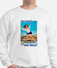 Sun Valley Travel Poster 1 Sweatshirt