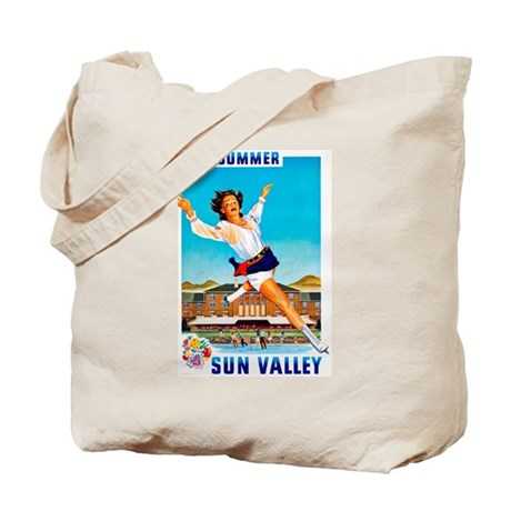 Sun Valley Travel Poster 1 Tote Bag
