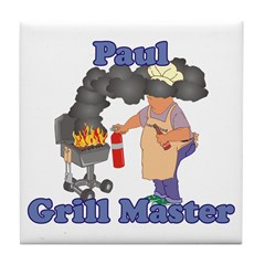 Grill Master Paul Tile Coaster