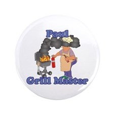 """Grill Master Paul 3.5"""" Button"""
