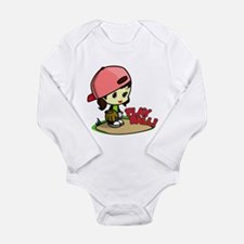 Unique Little girl playing Long Sleeve Infant Bodysuit