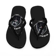 Schipperke All About Me Off-Black Flip Flops