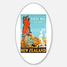 New Zealand Travel Poster 3 Decal