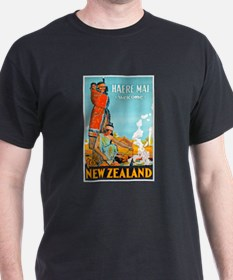New Zealand Travel Poster 3 T-Shirt