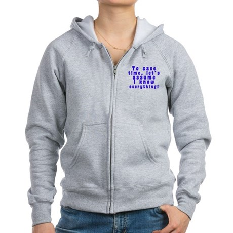 All about me! Women's Zip Hoodie