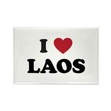 I Love Laos Rectangle Magnet
