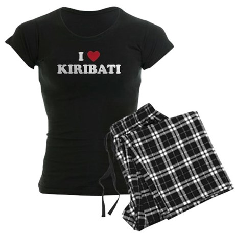 I Love Kiribati Women's Dark Pajamas