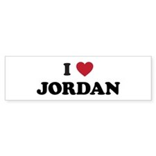 I Love Jordan Bumper Sticker