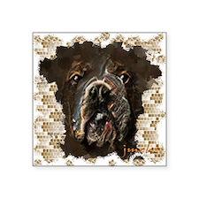 """bulldog Square Sticker 3"""" x 3"""""""
