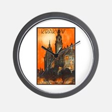 Poland Travel Poster 1 Wall Clock