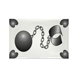 Ball And Chain Rectangle Magnet (10 pack)