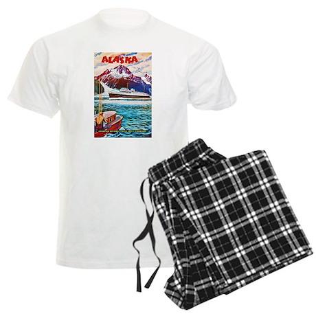 Alaska Travel Poster 1 Men's Light Pajamas