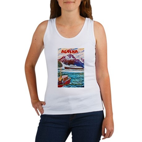 Alaska Travel Poster 1 Women's Tank Top