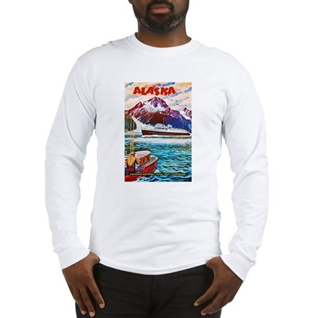 Alaska Travel Poster 1 Long Sleeve T-Shirt