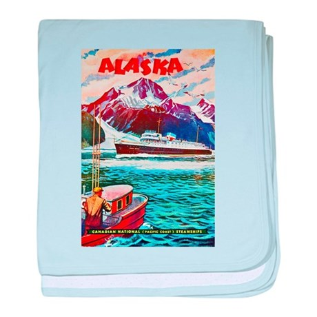 Alaska Travel Poster 1 baby blanket