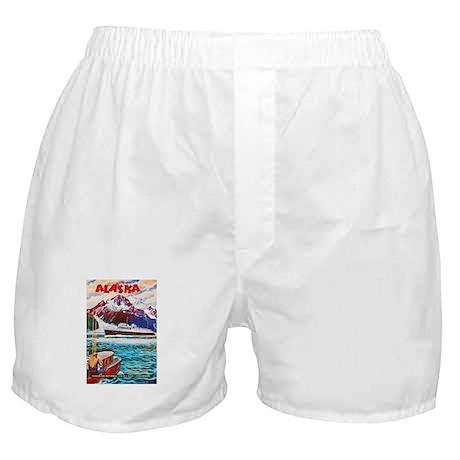 Alaska Travel Poster 1 Boxer Shorts