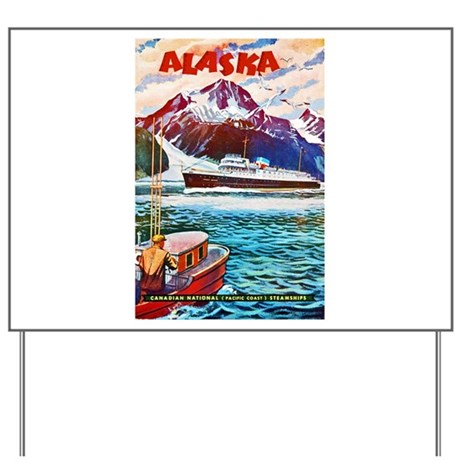 Alaska Travel Poster 1 Yard Sign
