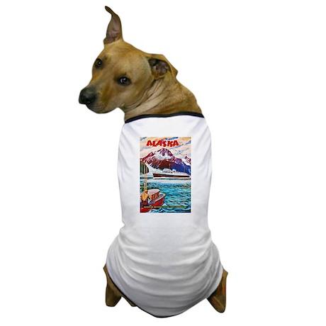 Alaska Travel Poster 1 Dog T-Shirt