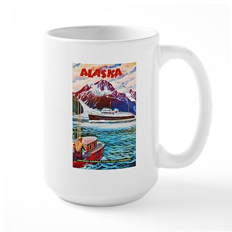 Alaska Travel Poster 1 Large Mug