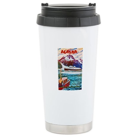 Alaska Travel Poster 1 Stainless Steel Travel Mug