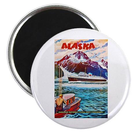 "Alaska Travel Poster 1 2.25"" Magnet (10 pack)"