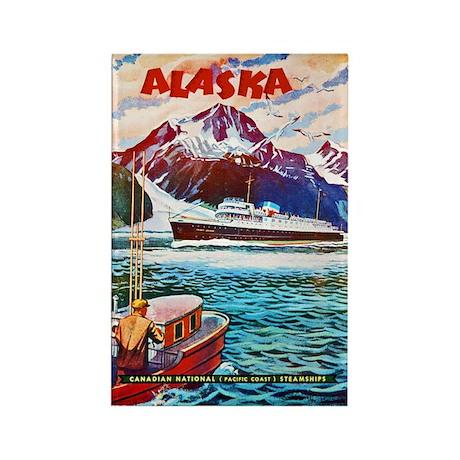 Alaska Travel Poster 1 Rectangle Magnet (100 pack)