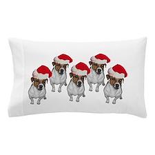 belle-santa-yardsign.png Pillow Case