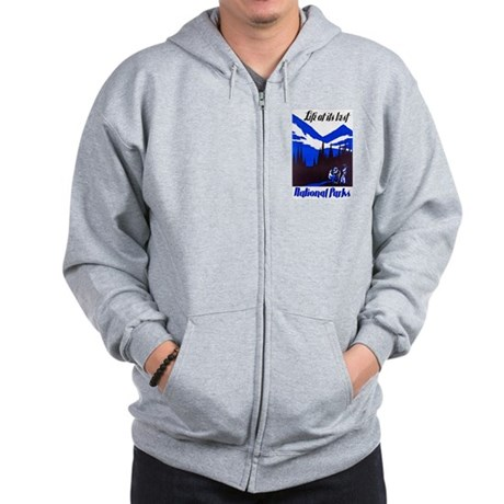 National Parks Travel Poster 4 Zip Hoodie