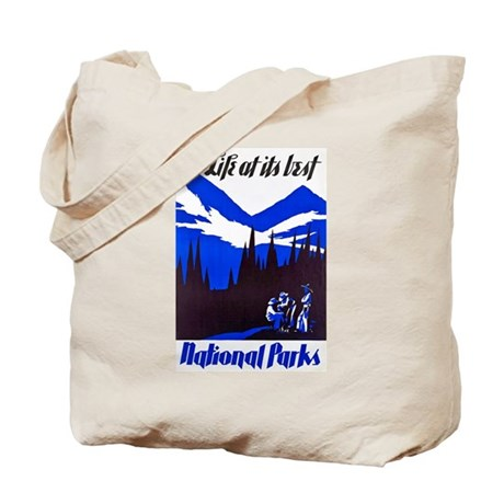 National Parks Travel Poster 4 Tote Bag