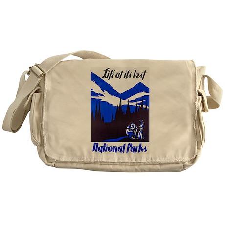 National Parks Travel Poster 4 Messenger Bag