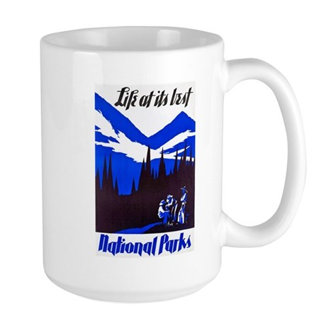 National Parks Travel Poster 4 Large Mug