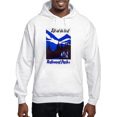 National Parks Travel Poster 4 Hooded Sweatshirt
