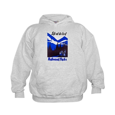 National Parks Travel Poster 4 Kids Hoodie